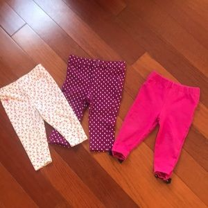 3 infant tights. Two of them are Ralph Lauren